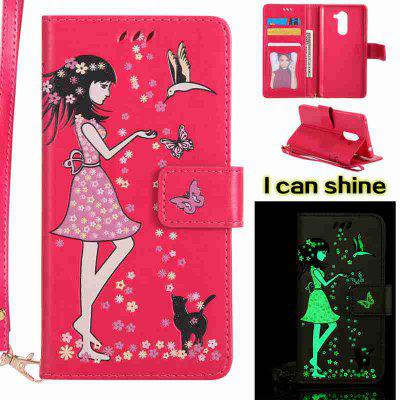 Buy TUTTI FRUTTI Women Cat Luminous Painted Pu Phone Case for Huawei Glory 6X for $7.11 in GearBest store