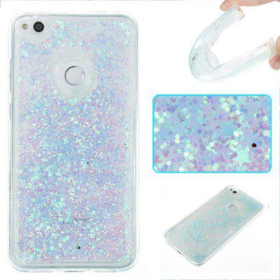 Buy COLORMIX Silver Light Five-Pointed Star All Soft Tpu Quicksand Phone Case for Huawei P8 Lite 2017 for $4.26 in GearBest store
