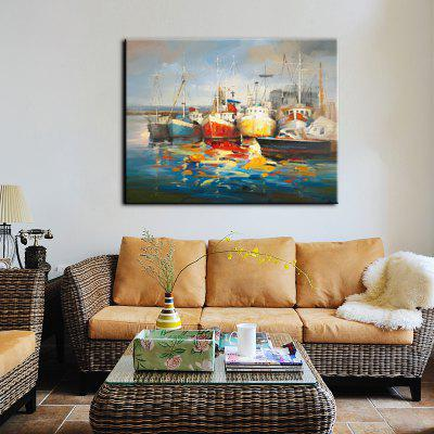 Yhhp Hand-Painted High-Definition Steamer Pictures To Print Simulation Oil Painting Wall Art On Canvas Unframed