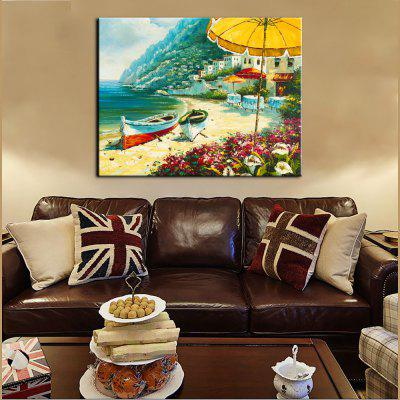 Yhhp Hand-Painted High-Definition Mediterranean Landscapepe Pictures To Print Simulation Oil Painting Wall Art On Canvas