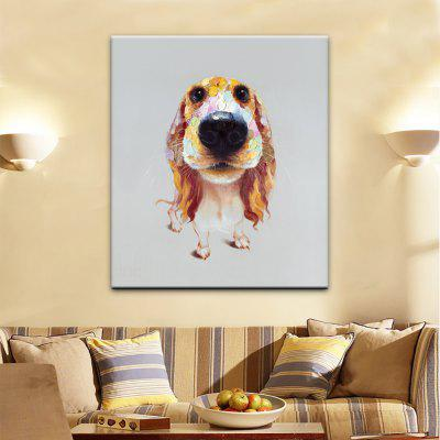 Buy COLORMIX Yhhp Hand-Painted High-Definition Long Ears Dog Pictures To Print Simulation Oil Painting Wall Art On Canvas Unframed for $14.60 in GearBest store