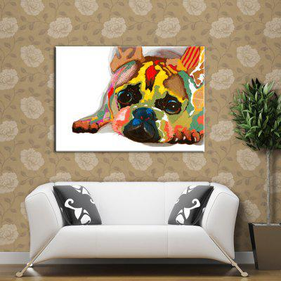 Buy COLORMIX Yhhp Hand-Painted High-Resolution Pictures Print Puppies Simulation Oil Painting Wall Art On Canvas Unframed for $14.60 in GearBest store