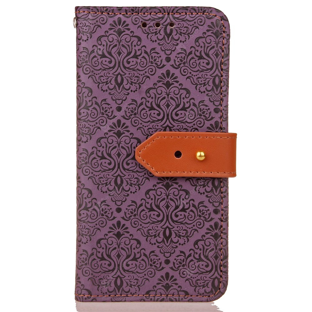 Yc European Style Card Lanyard Pu Leather Case for Samsung J3