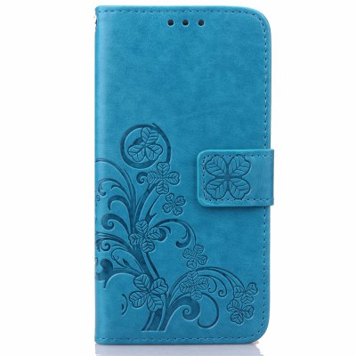 Yc Lucky Clover Holster Leaf Card Lanyard Pu Leather Case for Samsung Note 4