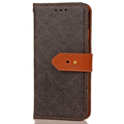 Yc European Style Card Lanyard Pu Leather Case for Samsung S7 Edge