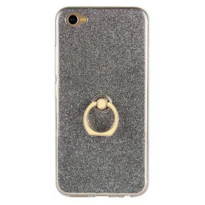 Wkae Soft Flexible TPU Back Cover Case Shockproof Protective Shell with Bling Glitter Sparkles and Kickstand for VIVO X9s Plus