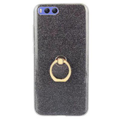 Wkae Soft Flexible TPU Back Cover Case Shockproof Protective Shell with Bling Glitter Sparkles and Kickstand for Xiaomi 6