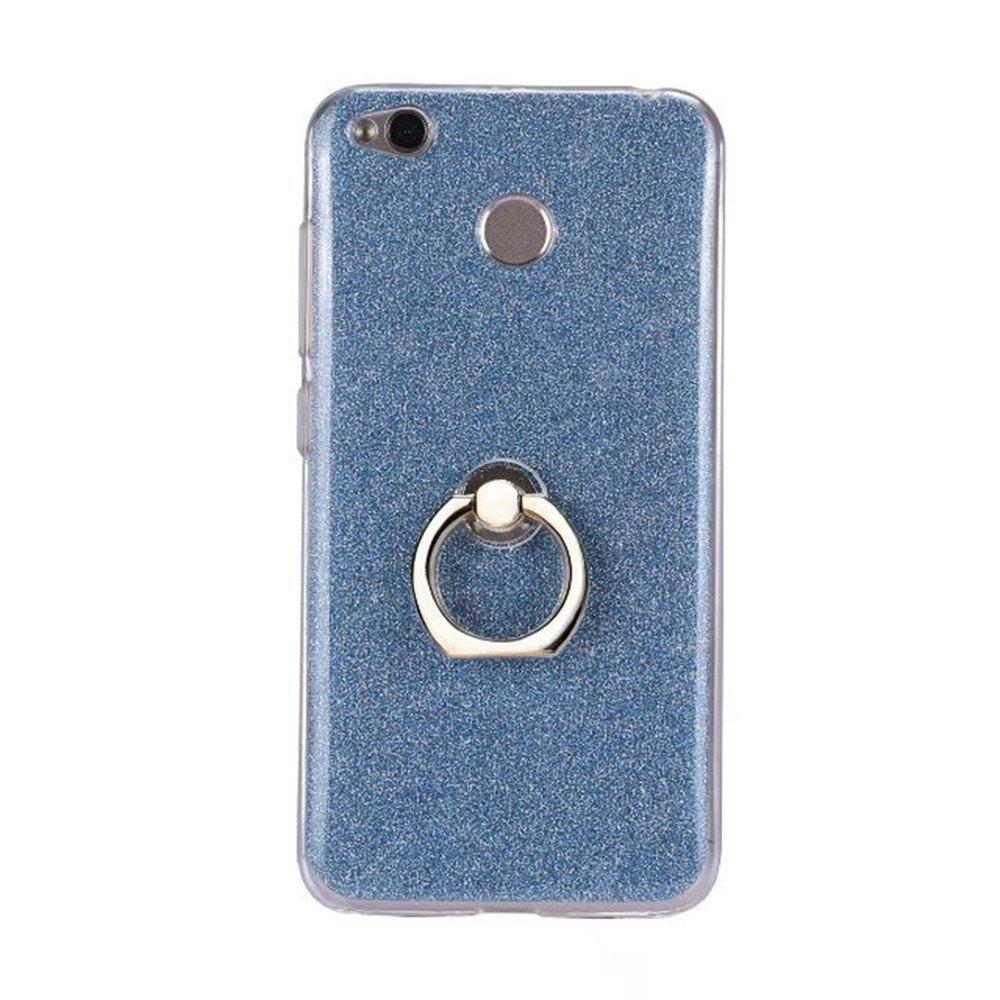 Wkae Soft Flexible TPU Back Cover Case Shockproof Protective Shell with Bling Glitter Sparkles and Kickstand for Xiaomi Hongmi 4X