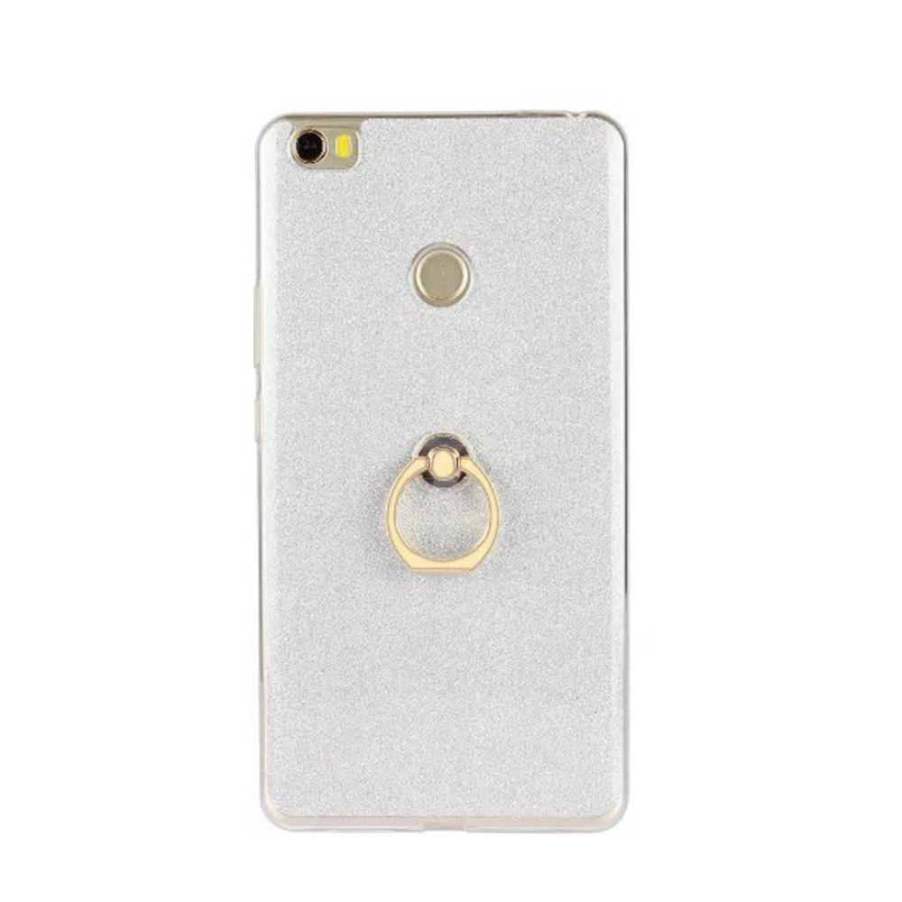 Wkae Soft Flexible TPU Back Cover Case Shockproof Protective Shell with Bling Glitter Sparkles and Kickstand for Xiaomi MAX