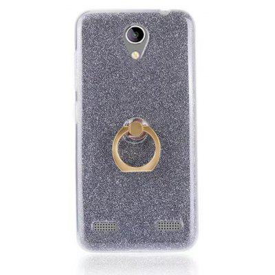 Wkae Soft Flexible TPU Back Cover Case Shockproof Protective Shell with Bling Glitter Sparkles and Kickstand for ZTE A520