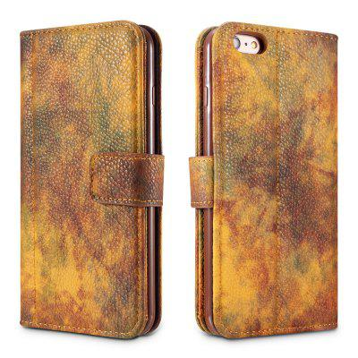 Wkae Forest Series Colorful Paiting Litchi Texture Premium Pu Leather Horizontal Flip Stand Wallet Case Cover with Card Slots for Iphone 6 Plus And 6S Plus paisley pattern imprint leather wallet stand cover with lanyard for iphone 6s 6 black