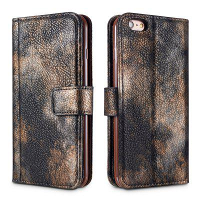 Wkae Forest Series Colorful Paiting Litchi Texture Premium Pu Leather Horizontal Flip Stand Wallet Case Cover with Card Slots for Iphone 6 Plus And 6S Plus