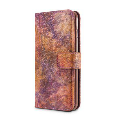 Wkae Forest Series Colorful Paiting Litchi Texture Premium Pu Leather Horizontal Flip Stand Wallet Case Cover with Card Slots for Iphone 7 Plus And 8 Plus wuw carbon fiber texture pu leather coated card holder pc back cover for iphone 7 4 7 gold