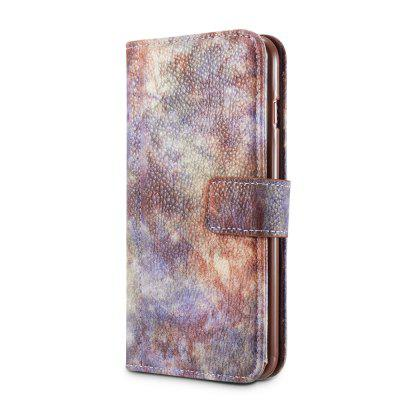Wkae Forest Series Colorful Paiting Litchi Texture Premium Pu Leather Horizontal Flip Stand Wallet Case Cover with Card Slots for Iphone 7 Plus And 8 Plus