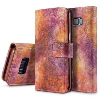 Wkae Forest Series Colorido Paiting Litchi Textura Premium PU Leather Horizontal Flip Stand Carteira Case Cover com Slots de Cartão para Samsung Galaxy S8