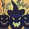 Happy Halloween Pumpkin 3 Square Linen Decorative Throw Pillow Case Cushion Cover - COLORFUL