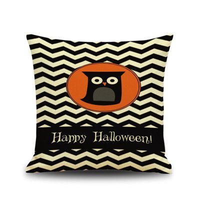 Halloween Night Owl Square Linen Almofada decorativa Throw Pillow Case Kawaii Cobertura