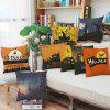 Halloween Bats Square Linen Decorative Throw Funda de almohada Kawaii Funda de cojín - COLORIDO
