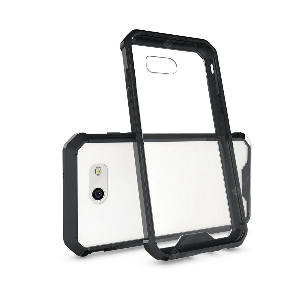 Transparent Surface Shockproof Back PC Case for Samsung Galaxy J3 2017 (America Edition)