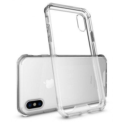 Transparent Surface Shockproof Back PC Case for iPhone X