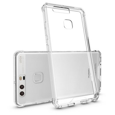 Buy TRANSPARENT Transparent Surface Shockproof Back PC Case for Huawei P9 for $4.18 in GearBest store