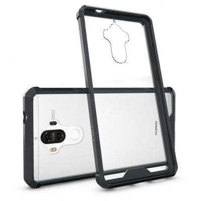 Buy BLACK Transparent Surface Shockproof Back PC Case for Huawei Ascend Mate 9 for $4.18 in GearBest store