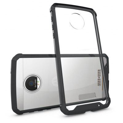 Buy BLACK Transparent Surface Shockproof Back PC Case for Motorola Moto Z for $4.18 in GearBest store