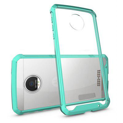 Buy GREEN Transparent Surface Shockproof Back PC Case for Motorola Moto Z for $4.18 in GearBest store