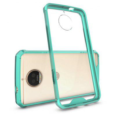 Buy GREEN Transparent Surface Shockproof Back PC Case for Motorola Moto G5S Plus for $4.18 in GearBest store