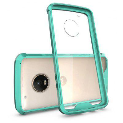 Buy GREEN Transparent Surface Shockproof Back PC Case for Motorola Moto G5 Plus for $4.18 in GearBest store