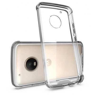 Buy TRANSPARENT Transparent Surface Shockproof Back PC Case for Motorola Moto G5 Plus for $4.18 in GearBest store