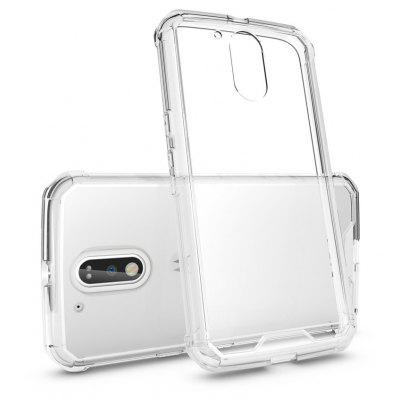 Buy TRANSPARENT Transparent Surface Shockproof Back PC Case for Motorola Moto G4 for $4.18 in GearBest store