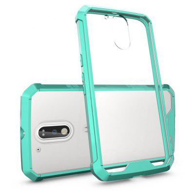 Buy GREEN Transparent Surface Shockproof Back PC Case for Motorola Moto G4 Plus for $4.18 in GearBest store