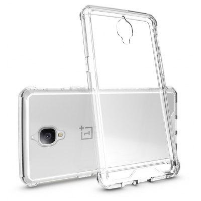 Buy TRANSPARENT Transparent Surface Shockproof Back PC Case for OnePlus 3 for $4.18 in GearBest store