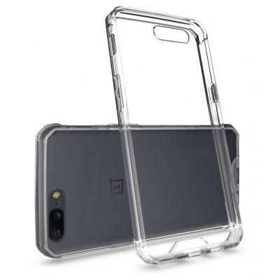 Buy TRANSPARENT Transparent Surface Shockproof Back PC Case for OnePlus 5 for $4.18 in GearBest store