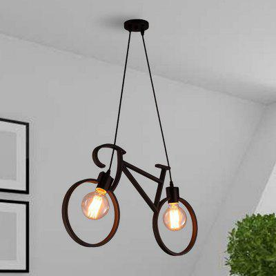 Everflower Modern Pendant Lighting Chandelier For Living Room Kitchen Bar Dining Black