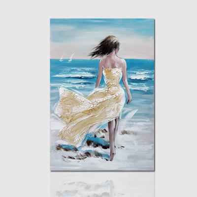 Buy COLORMIX 80CMX120CM Hx-Art No Frame Canvas Decorative Painting Next To The Sea Flying Skirt Living Room Bedroom Decor Pictures for $22.87 in GearBest store