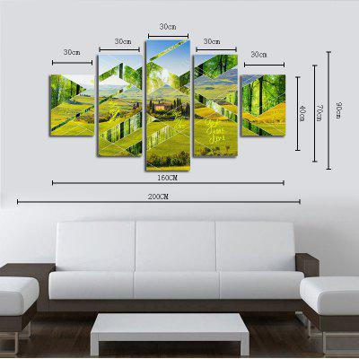 Hx-Art No Frame Canvas Five-Set Painting Green Pastoral Landscape Living Room Decoration PaintingsPrints<br>Hx-Art No Frame Canvas Five-Set Painting Green Pastoral Landscape Living Room Decoration Paintings<br><br>Brand: Qiaojiahuayuan<br>Craft: Print<br>Form: Five Panels<br>Material: Canvas<br>Package Contents: 5 x Print<br>Package size (L x W x H): 40.00 x 5.00 x 5.00 cm / 15.75 x 1.97 x 1.97 inches<br>Package weight: 0.4000 kg<br>Painting: Without Inner Frame<br>Shape: Vertical Panoramic<br>Style: Fresh / Rural, Fresh Style, Bright<br>Subjects: Landscape<br>Suitable Space: Bedroom,Living Room,Study Room / Office