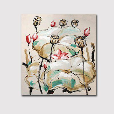 Buy Hx-Art Frameless Picture Frame Canvas Lotus Classic Living Room Decoration Paintings, COLORMIX, 80CMX80CM, Home & Garden, Home Decors, Wall Art, Prints for $18.04 in GearBest store