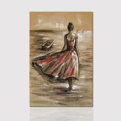 Hx-Art Vessels Without Frame Canvas Red Dress Girl Living Room Decoration Paintings