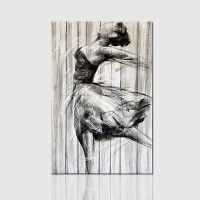 Hx-Art No Frame Canvas Dance Dancers In Black And White Living Room Decoration Paintings