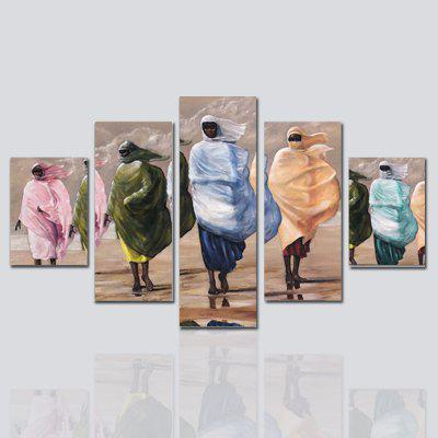 Hx-Art No Frame Five-Set Picture Masked Woman Living Room Sofa Background Decorative Paintings