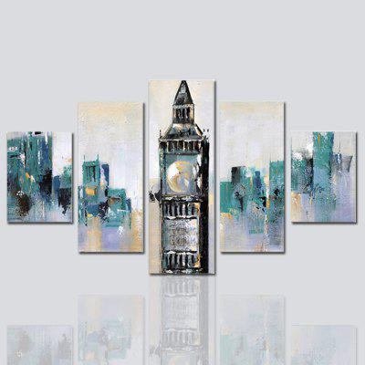 Buy COLORMIX Hx-Art No Frame Canvas Five-Set Painting Abstract Architectural Living Room Decorative Paintings for $32.14 in GearBest store