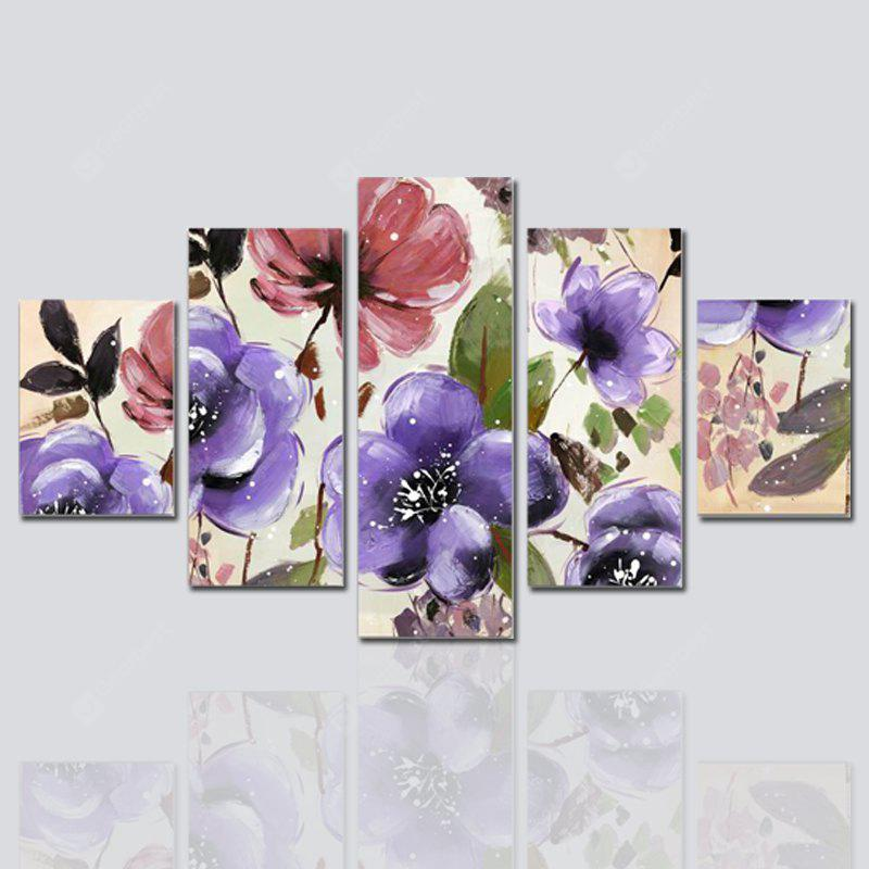 Hx-Art No Frame Canvas Пятизеневая живопись Flower Fen Living Room Decoration Картины