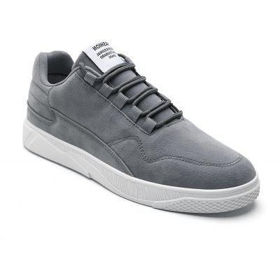 Buy GRAY 44 Mens Solid Color Lace-Up Casual Shoes for $37.71 in GearBest store