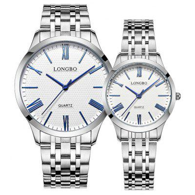 Longbo 80265 4597 Chic Business Quartz Couple Watch