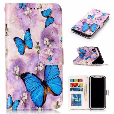 Butterfly Butterfly Varnish Relief Pu Phone Case for Iphone x