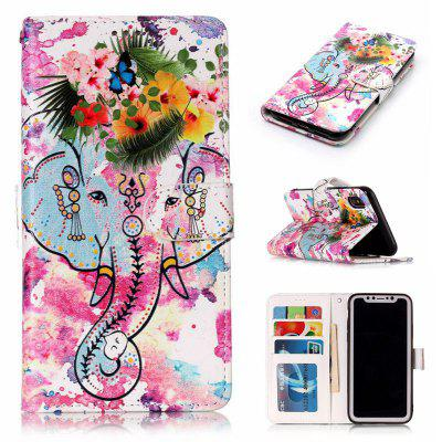 Flower Like Varnish Relief Pu Phone Case for Iphone x