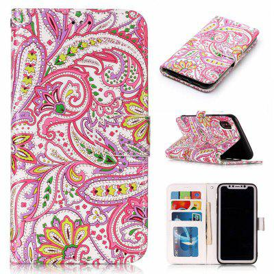 Pepper Flowers Varnish Relief Pu Phone Case for Iphone x