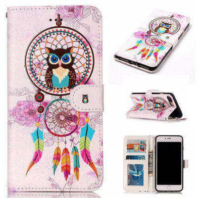 Wind Chimes Owl Varnish Relief Pu Phone Case for Iphone 8 Plus 7 Plus